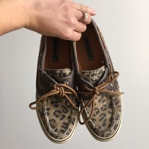 Sperry Top Side Leopard Boat Shoes